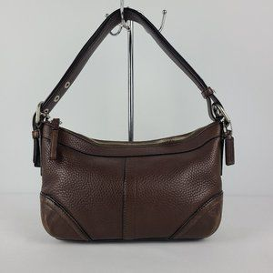 Coach Brown Pebbled Leather Shoulder Purse